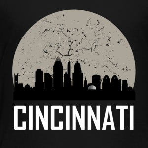 Cincinnati Full Moon Skyline - Toddler Premium T-Shirt