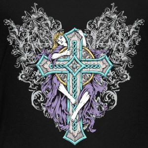 girl_embracing_cross - Toddler Premium T-Shirt