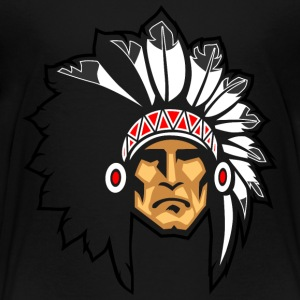 rock_face_indian_chief_black_border - Toddler Premium T-Shirt