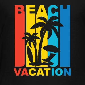 Vintage Beach Vacation Graphic - Toddler Premium T-Shirt