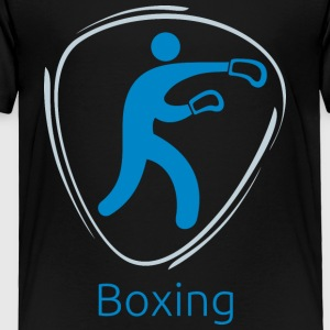 Boxing_blue - Toddler Premium T-Shirt