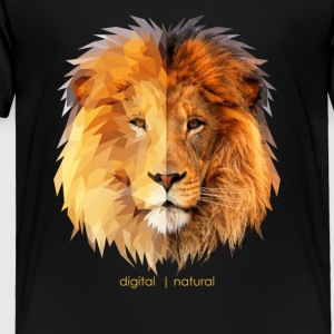 polygonal lion & natural - Toddler Premium T-Shirt