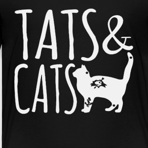 Tattoo and Cats shirt - Toddler Premium T-Shirt
