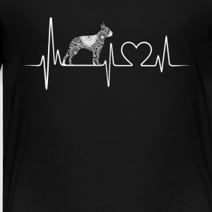 boston terrier dog heartbeat shirt - Toddler Premium T-Shirt