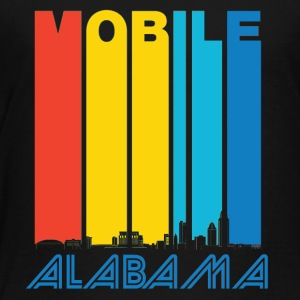 Retro Mobile Alabama Skyline - Toddler Premium T-Shirt