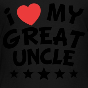 I Heart My Great Uncle - Toddler Premium T-Shirt