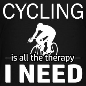 Cycling is my therapy - Toddler Premium T-Shirt