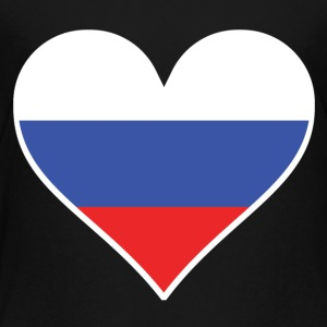 Russian Flag Heart - Toddler Premium T-Shirt