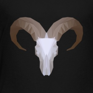 Low Poly Aoudad Skull - Toddler Premium T-Shirt