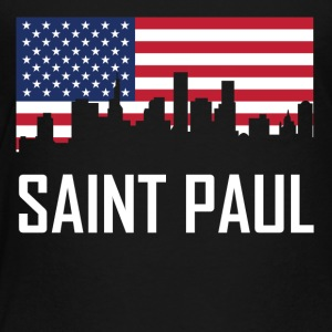 Saint Paul Minnesota Skyline American Flag - Toddler Premium T-Shirt
