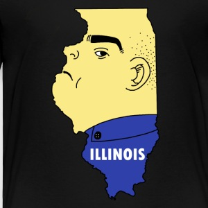 A funny map of Illinois - Toddler Premium T-Shirt