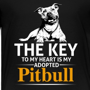 This Girl Loves Her Pit Bull - Toddler Premium T-Shirt