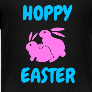 Hoppy Easter shirt Rabbit Bunny Happy Easter - Toddler Premium T-Shirt