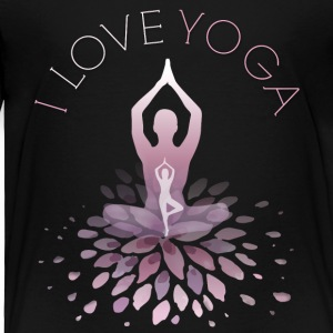 yoga yoga namaste shiva woman fun buddha gym om lo - Toddler Premium T-Shirt