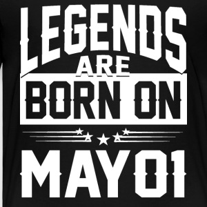 Legends are born on May 01 - Toddler Premium T-Shirt