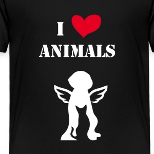 i love animals white - Toddler Premium T-Shirt