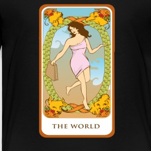The World Tarot Card Tee Shirt - Toddler Premium T-Shirt