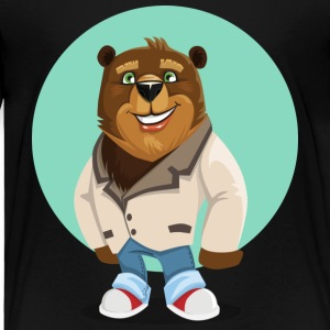 Friendly funny Bear smiling Boss - Toddler Premium T-Shirt