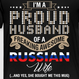 Im A Proud Husband Of A Freaking Awesome Russian W - Toddler Premium T-Shirt