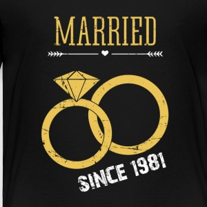 Married since 1981 - Toddler Premium T-Shirt