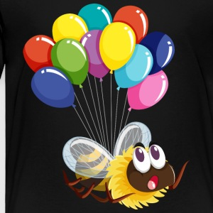 Bee insect fly balloons wildlife vector cool art - Toddler Premium T-Shirt