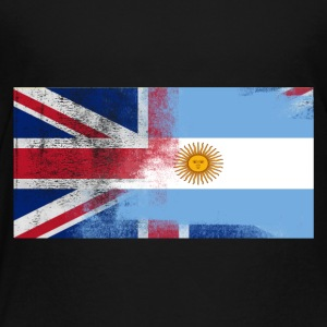 British Argentinan Half Argentina Half UK Flag - Toddler Premium T-Shirt