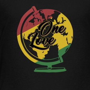One Love T-Shirt Rasta Reggae Men World Gift - Toddler Premium T-Shirt