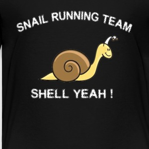 Snail Running Team Shell Yeah T-Shirt - Toddler Premium T-Shirt