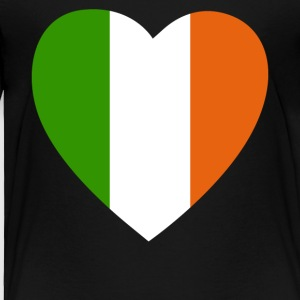 Ireland Flag Heart - Toddler Premium T-Shirt