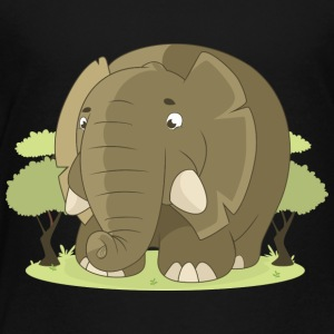Friendly Elephant Comic Style - Toddler Premium T-Shirt