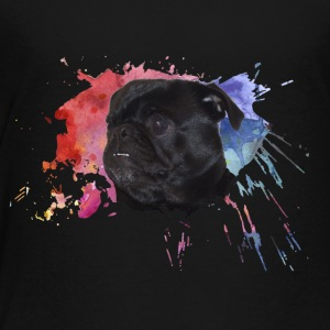 Pug Paint Splatter - Toddler Premium T-Shirt