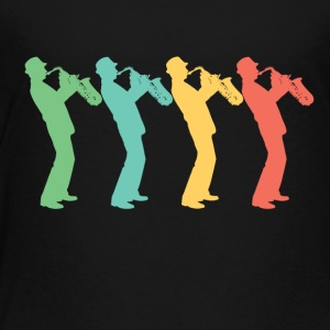 Retro Saxophone Pop Art - Toddler Premium T-Shirt
