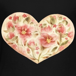 Cool flowers heart vector watecolor picture image - Toddler Premium T-Shirt