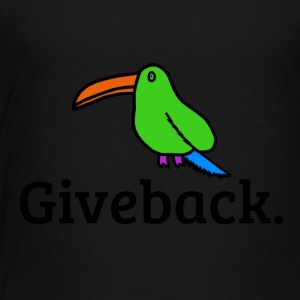 Giveback Bird - Toddler Premium T-Shirt