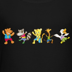Funny Animal having Fun for Kids - Toddler Premium T-Shirt