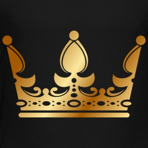 golden crown the king of rap drawing graphic arts - Toddler Premium T-Shirt