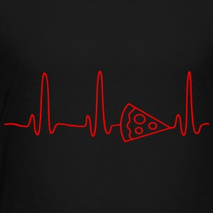 EKG HEARTBEAT PIZZA red - Toddler Premium T-Shirt