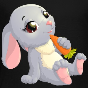 Baby hare carrot animal wildlife smile - Toddler Premium T-Shirt