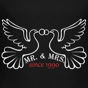 Mr And Mrs Since 1990 Married Marriage Engagement - Toddler Premium T-Shirt