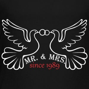Mr And Mrs Since 1989 Married Marriage Engagement - Toddler Premium T-Shirt