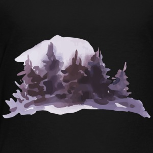 watercolor-landscape-painting-winter-trees - Toddler Premium T-Shirt