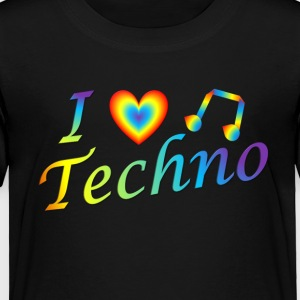 I LOVETECHNO MUSIC - Toddler Premium T-Shirt