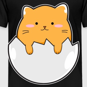 Yellow Cat Egg - Toddler Premium T-Shirt