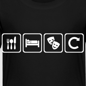 Eat. Sleep. Theatre. Repeat. - Toddler Premium T-Shirt