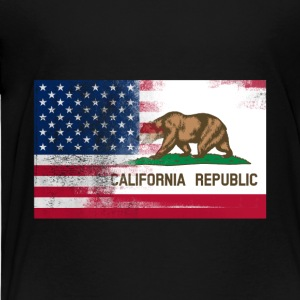 California American Flag Fusion - Toddler Premium T-Shirt