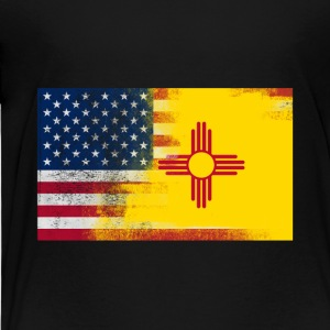 New Mexico American Flag Fusion - Toddler Premium T-Shirt