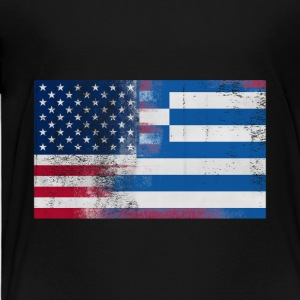 Greek American Half Greece Half America Flag - Toddler Premium T-Shirt