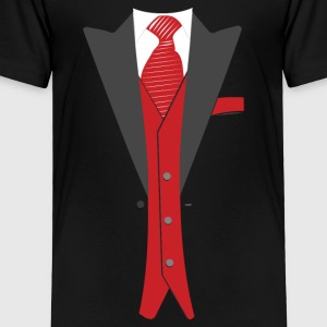Tuxedo Red Tie - Toddler Premium T-Shirt