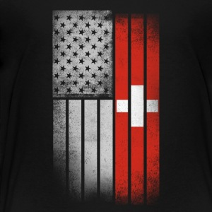 Swiss American Flag - Toddler Premium T-Shirt