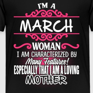 MARCH Woman And Mother - Toddler Premium T-Shirt